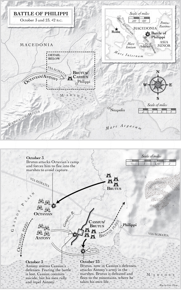 Battle of Philippi map