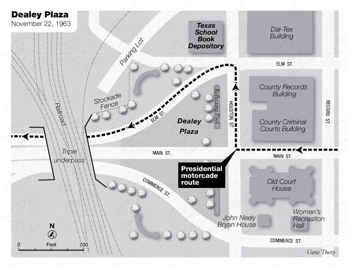 Dealey Plaza map