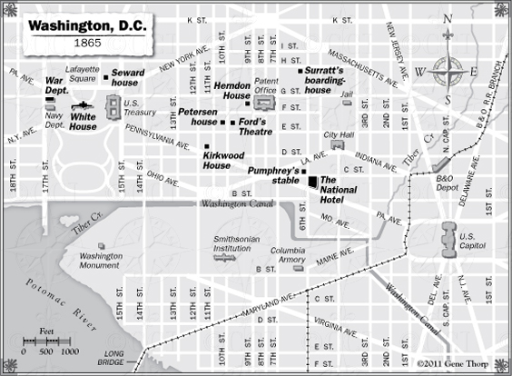 Washington During the Civil War Map: Bill O'Rielly's Book - Killing on a city in washington dc, a map in michigan, a map paris, a map florida, a map california, a map in arkansas, a map in boston,