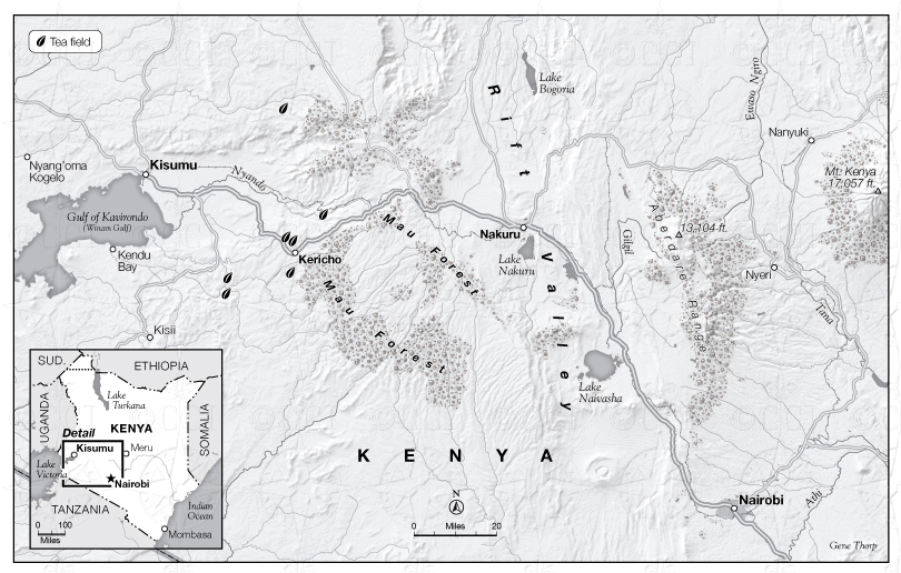 Rift Valley Kenya map
