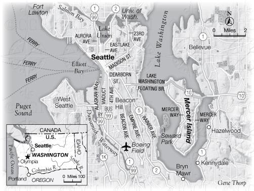 City of Seattle Map Barack Obama David Maraniss