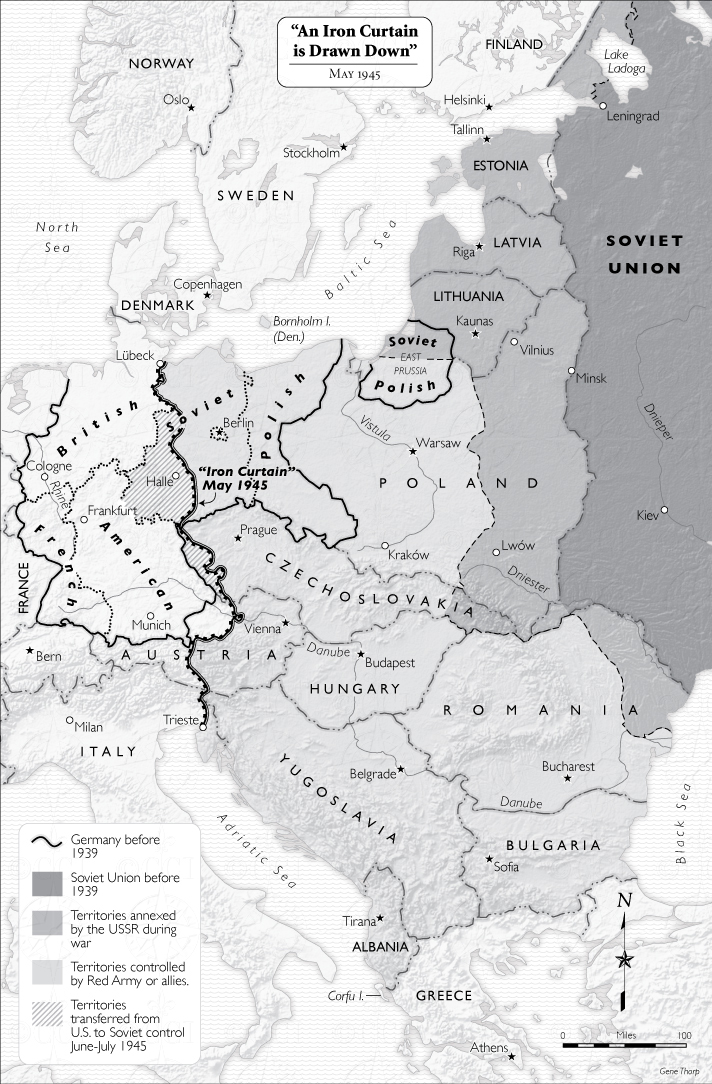 Iron Curtain map