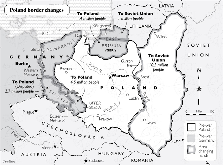 poland border changes map