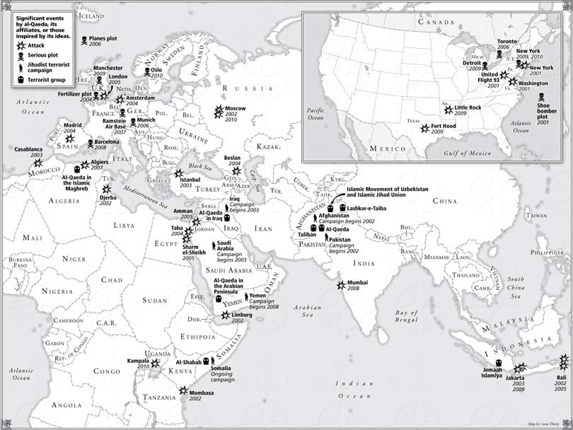 The Longest War book map