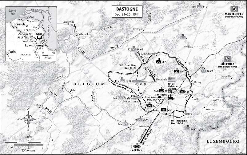 Battle of Bastogne map