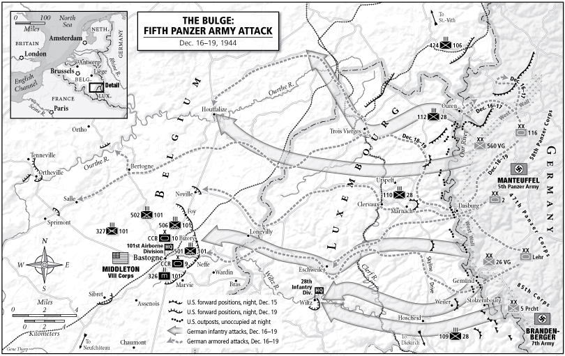 The Bulge, Fifth Panzer Army map