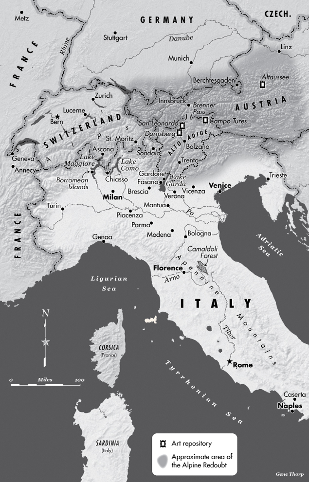 Northern Italy In World War II map | Saving Italy | Robert Edsel