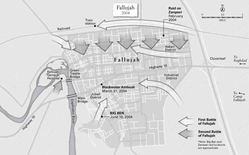 Battle of Fallujah map | My Share Of The Task | Gen. Stanley McChrystal