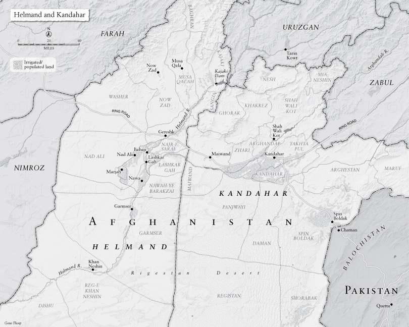 Helmand and Kandahar map My Share Of The Task Gen Stanley