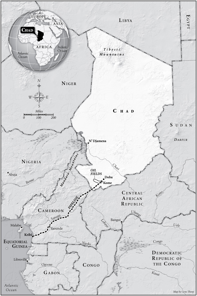 Chad Oil Field map