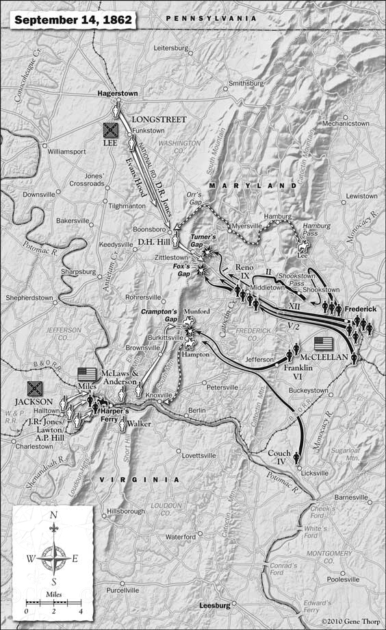 Antietam Campaign, September 14, 1862