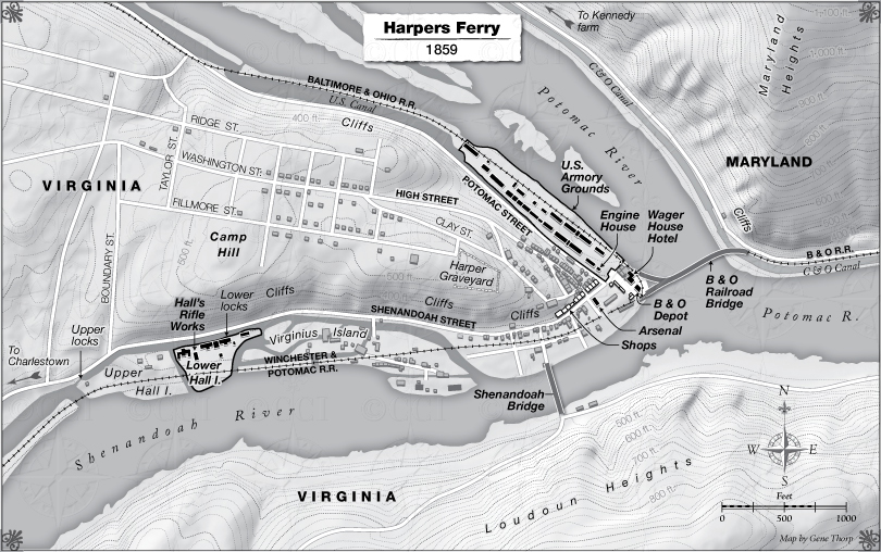 Harpers Ferry map