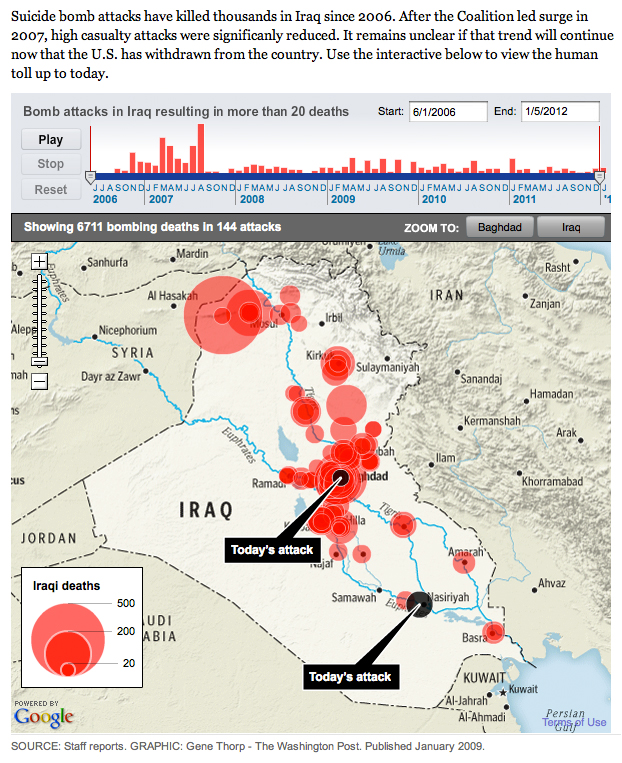 Iraq Bombings Interactive Map and Timeline | The Washington