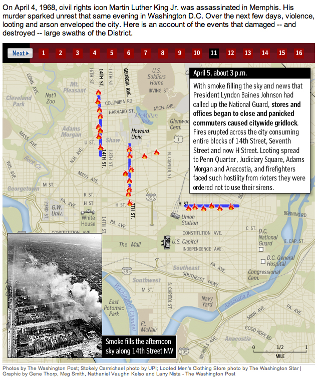 Martin Luther King riots map