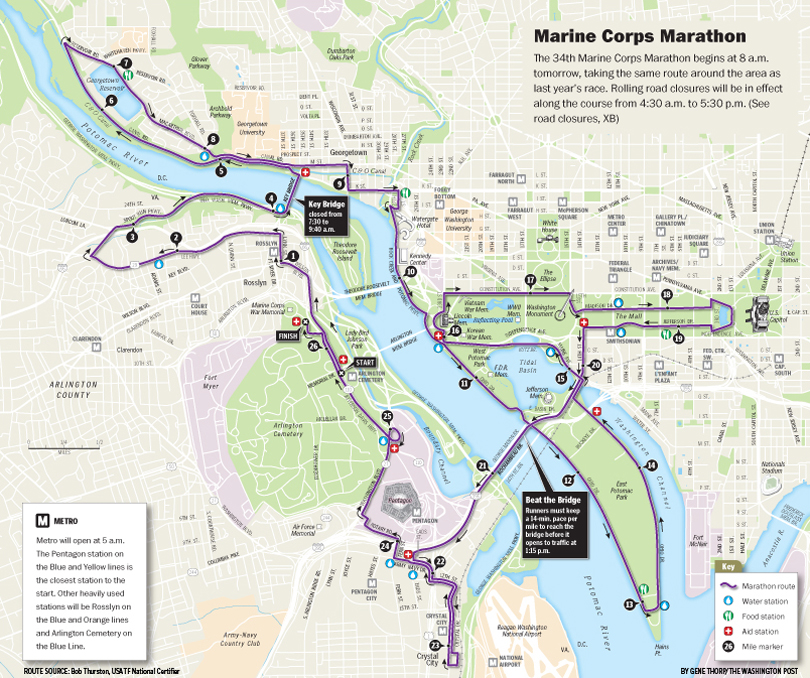 Marine Corps Marathon Map | World Map 07