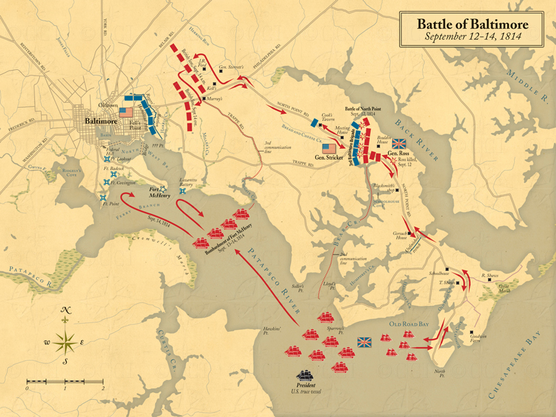 Battle of Baltimore map