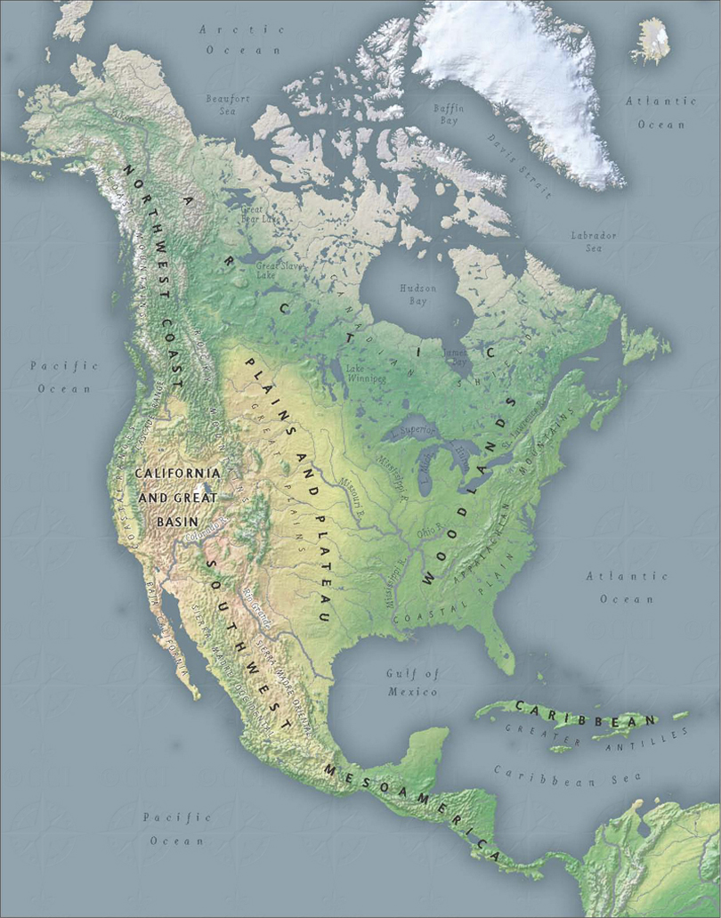 Regions of North America Map | Infinity of Nations | Smithsonian ...
